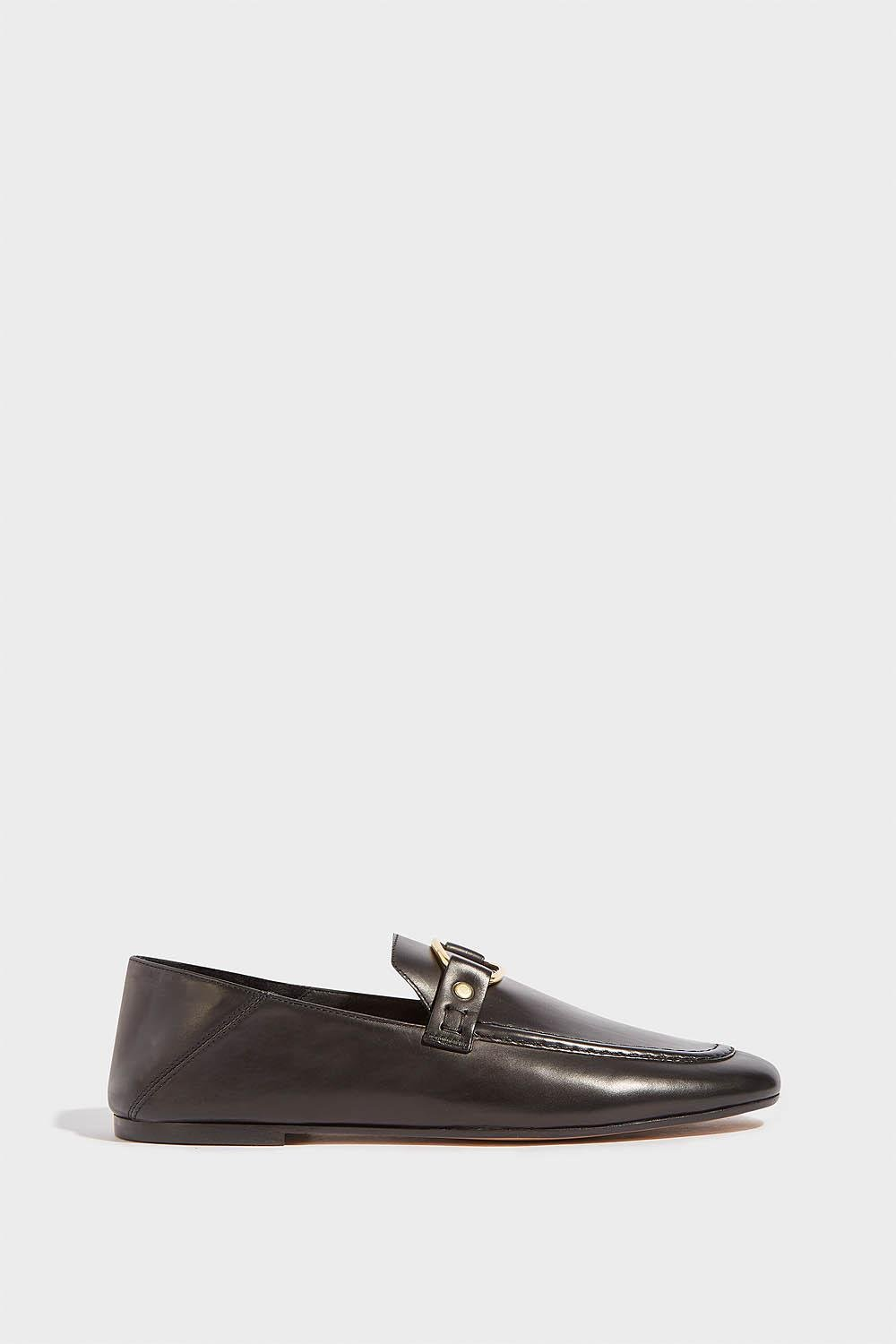 d55b5f92ae1 Lyst - Isabel Marant Ferlyn Leather Loafers in Black