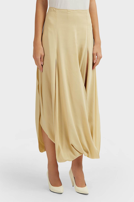 14a88e4ad Jacquemus Nahil Draped Skirt in Natural - Lyst