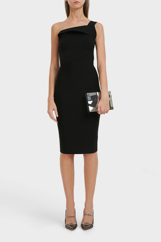 6aded3c9fe7 Roland Mouret. Women s Black Hepburn One-shoulder Stretch-knit Dress