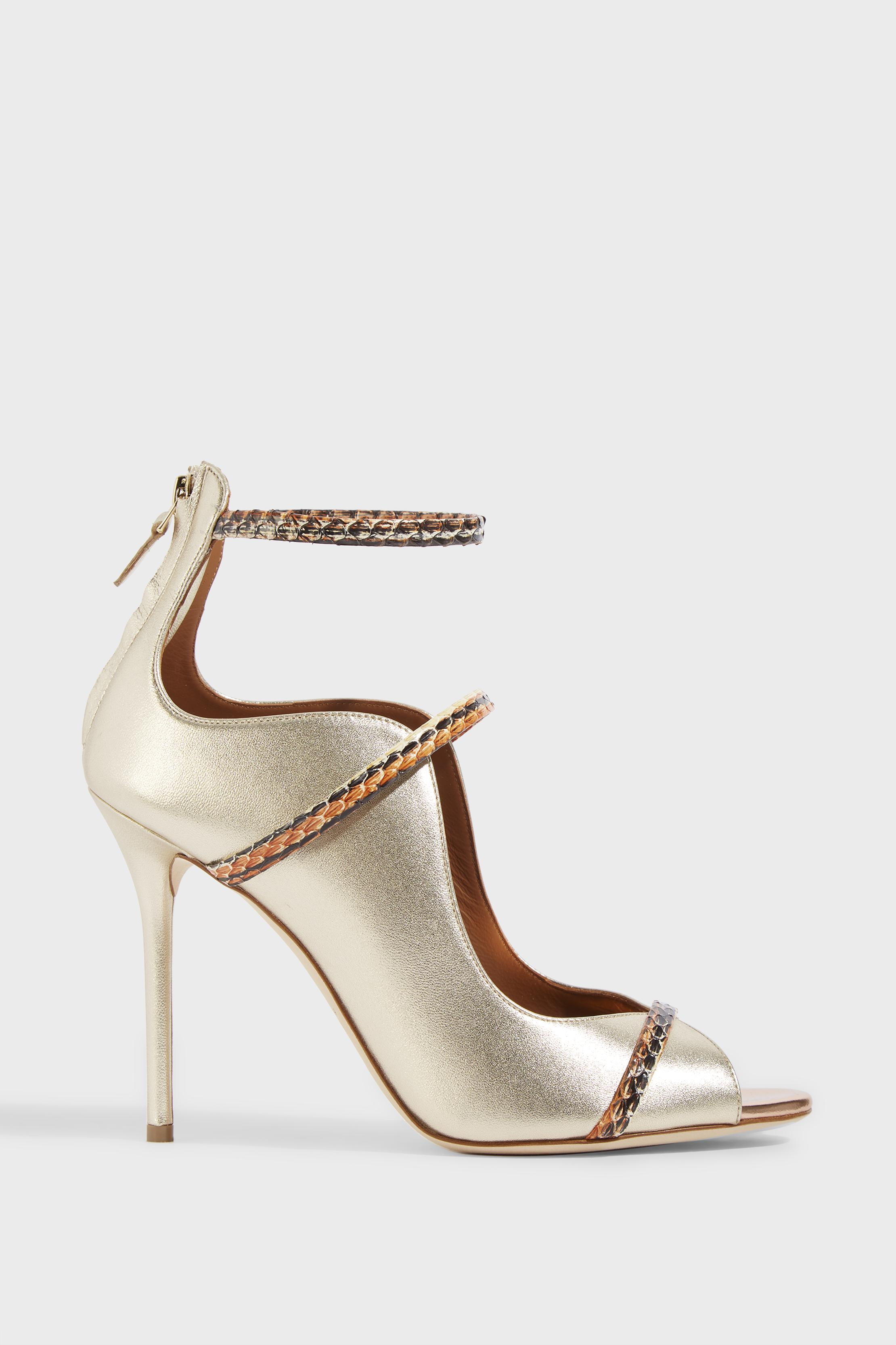 MALONE SOULIERS Mika Metallic Leather Sandals FrapfGbXor