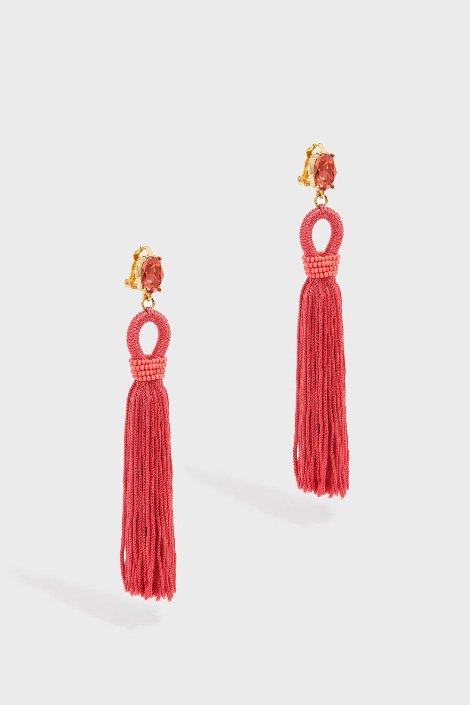 Exclusive to mytheresa.com - Ball Tassel silk earrings Oscar De La Renta rWpeY1R