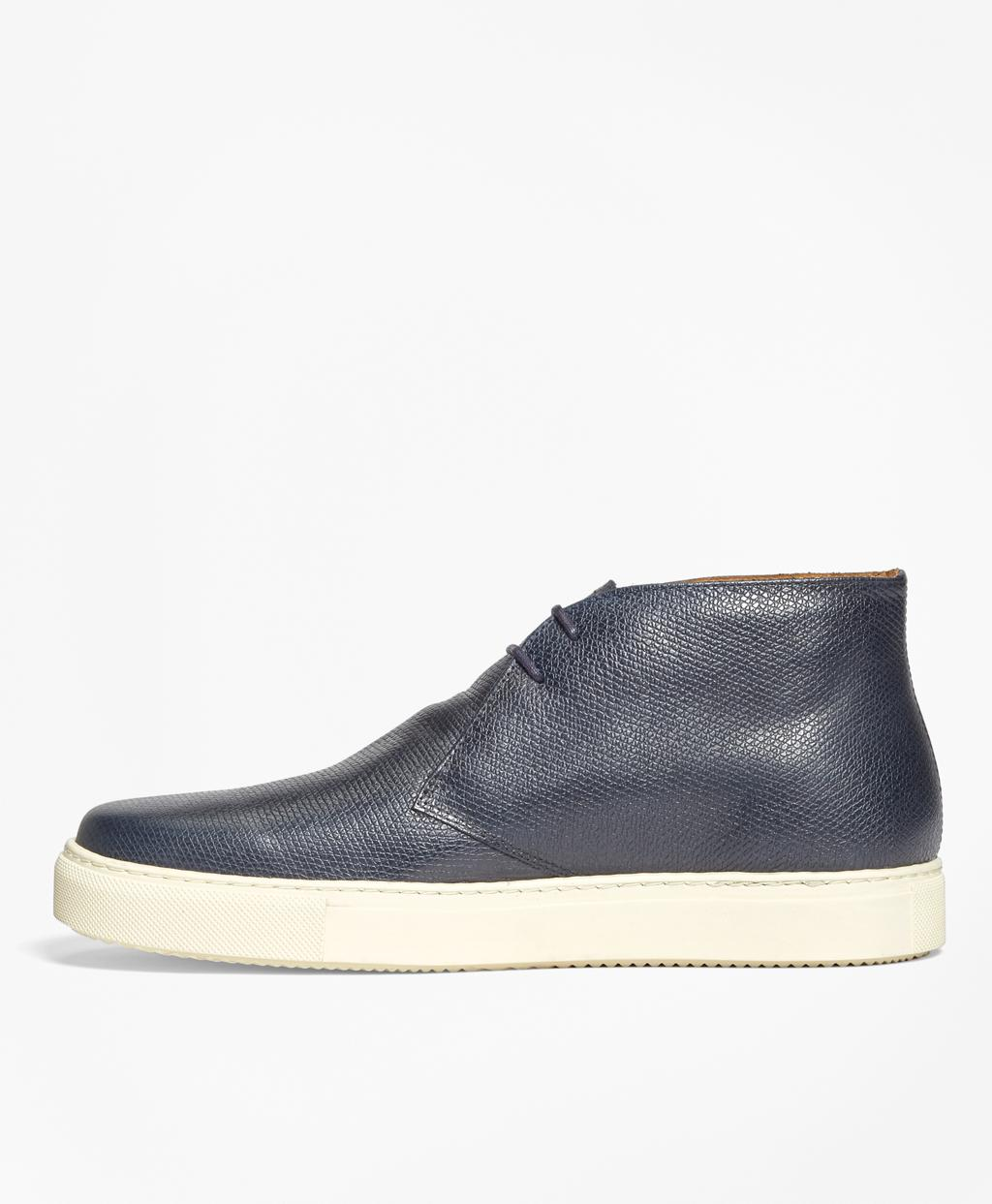 76b944b00fc Lyst - Brooks Brothers 1818 Footwear Textured Leather Chukka Sneakers in  Blue for Men
