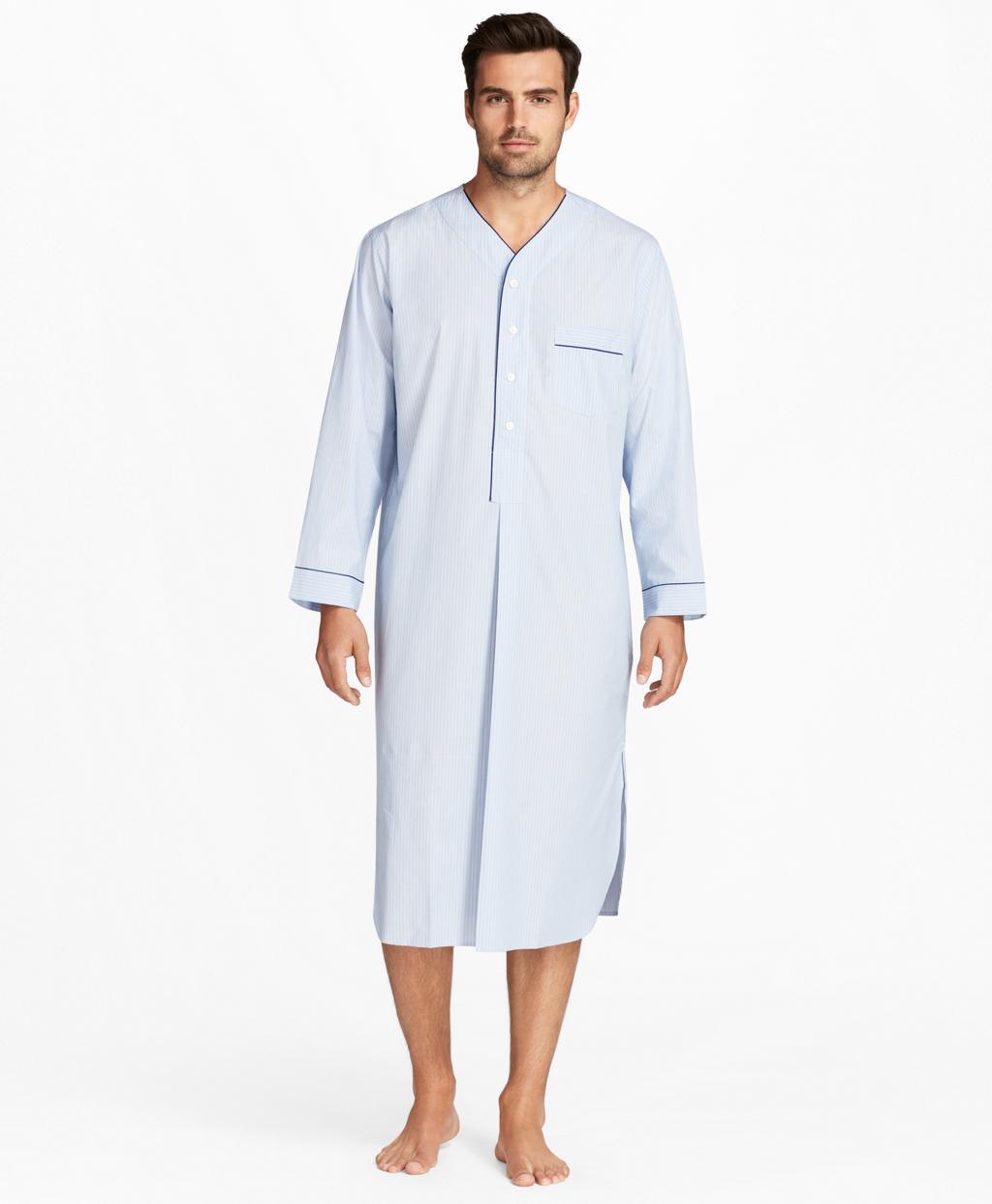 Lyst - Brooks Brothers Mini-music Stripe Nightshirt in Blue for Men b415f63ad
