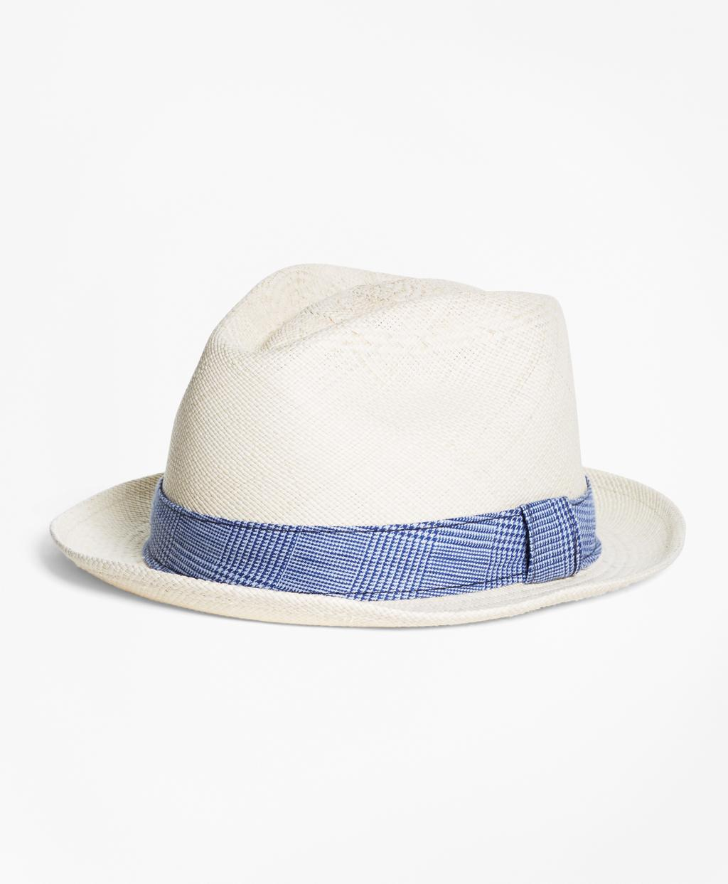 249d61ac2867f Lyst - Brooks Brothers Straw Block Hat in Natural for Men