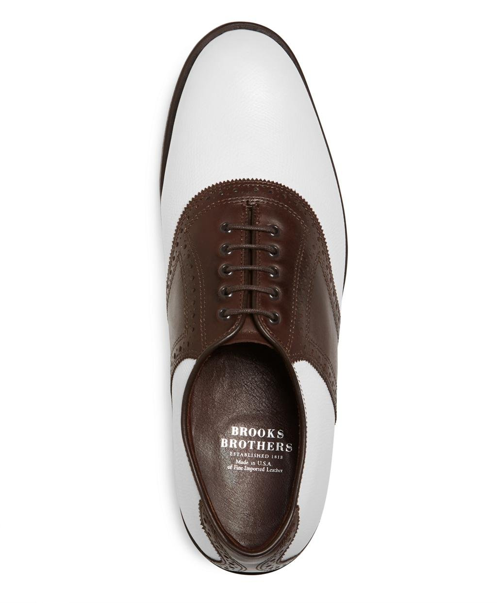 4aebd5562d898 Lyst - Brooks Brothers Redan Golf Shoes in White for Men
