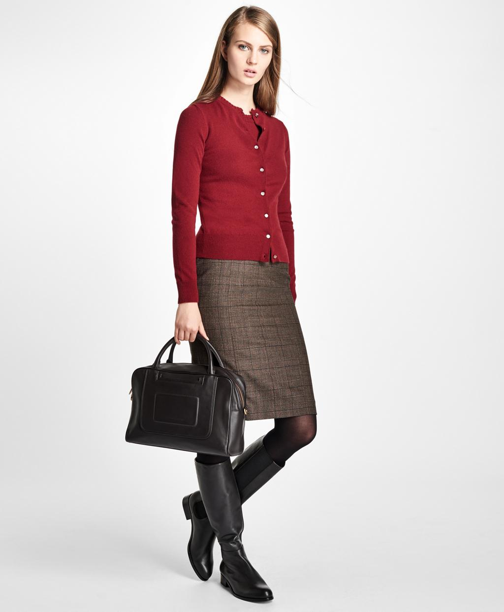 Brooks brothers Long-sleeve Cashmere Cardigan in Red   Lyst