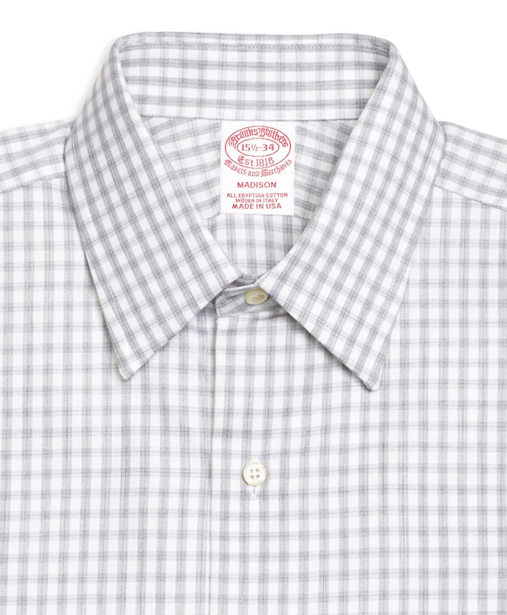 Lyst brooks brothers madison fit heathered gingham for Gingham french cuff shirt
