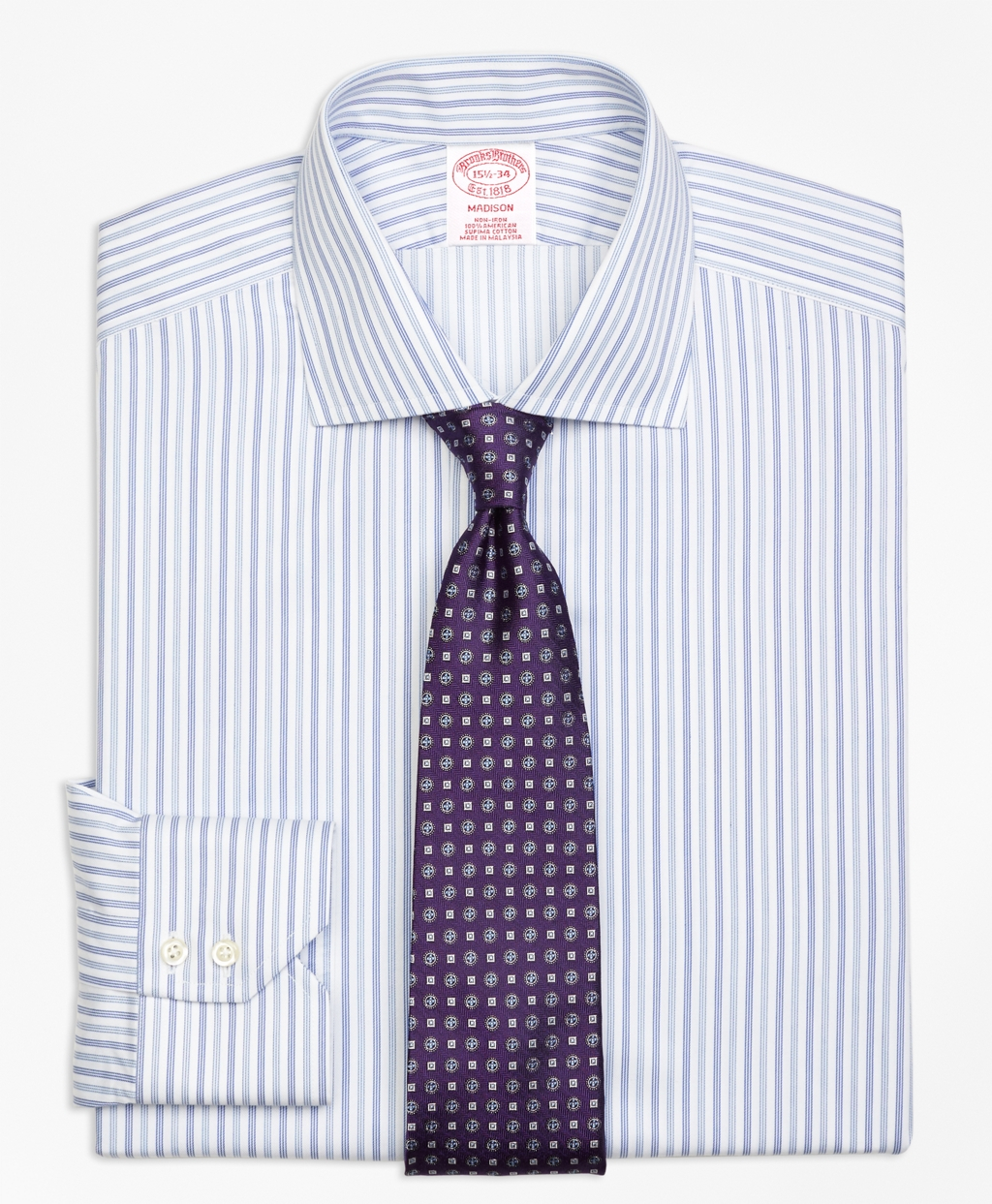 Brooks brothers non iron madison fit alternating triple for Brooks brothers non iron shirts review