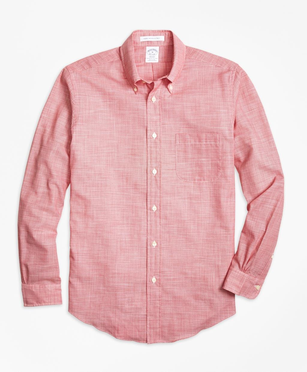 Lyst brooks brothers regent fit houndstooth sport shirt for Brooks brothers sports shirts