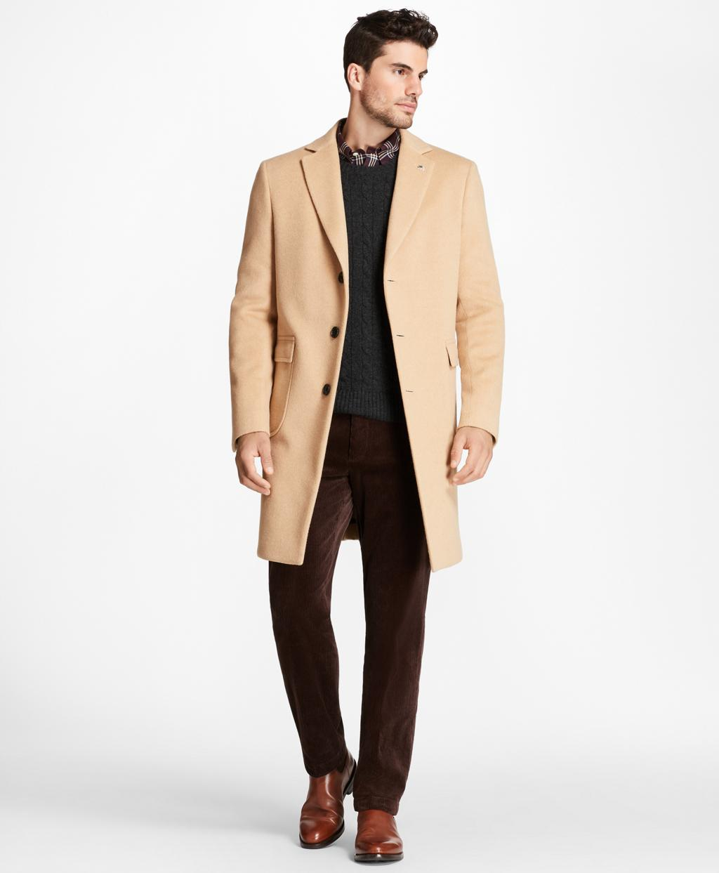db058bb164f80 Lyst - Brooks Brothers Camel Hair Polo Coat in Natural for Men