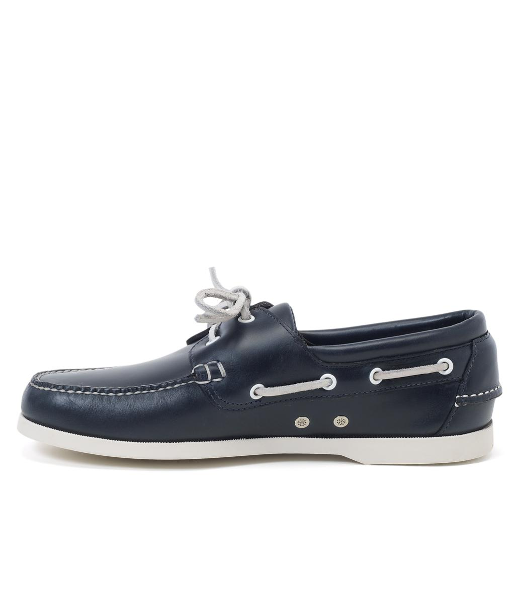 6f7c4754483 Brooks Brothers - Blue Leather Boat Shoes for Men - Lyst. View fullscreen