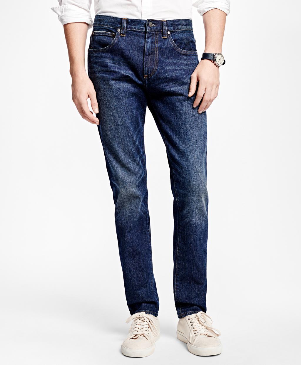 0c27861e2c Brooks Brothers 116 Slim Stretch Jeans In Indigo Denim in Blue for ...