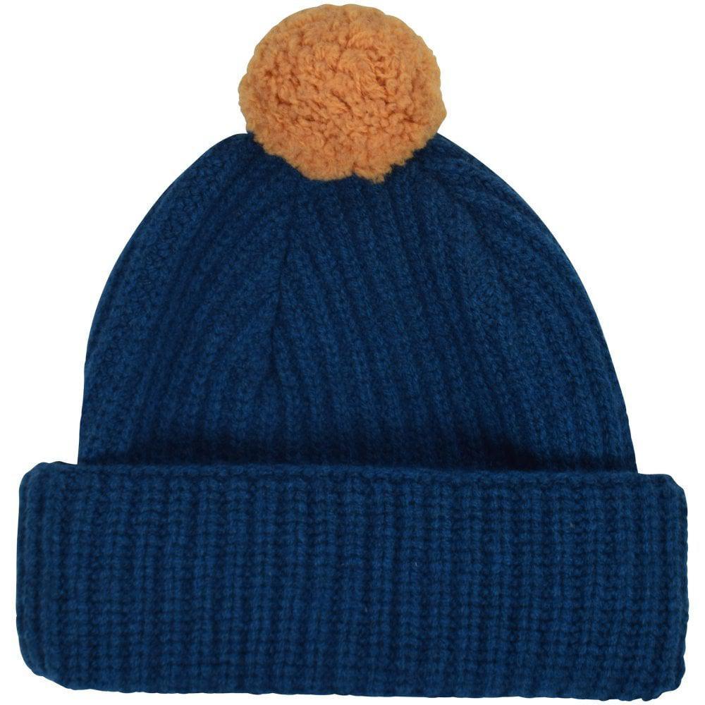 aa87956ec3f Ps By Paul Smith Blue yellow Bobble Hat in Blue for Men - Lyst