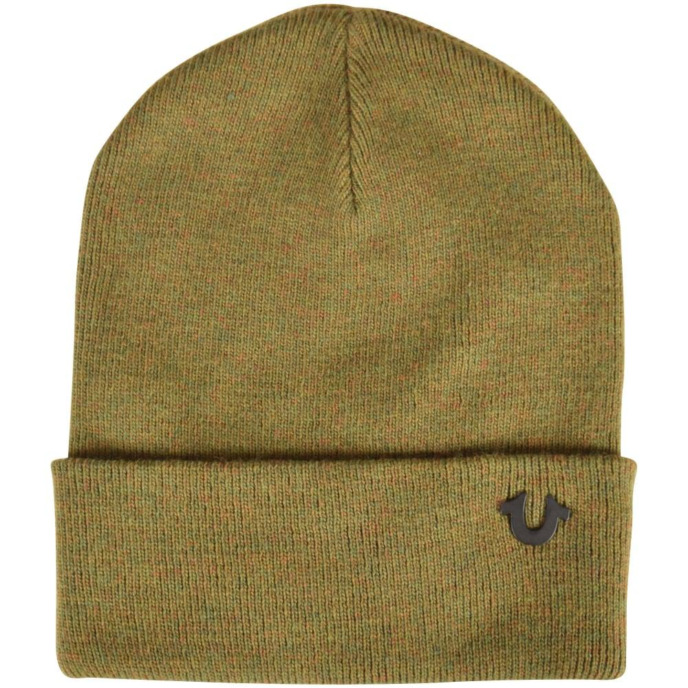 21acafc5e0a True Religion Military Green Beanie Hat in Green for Men - Lyst