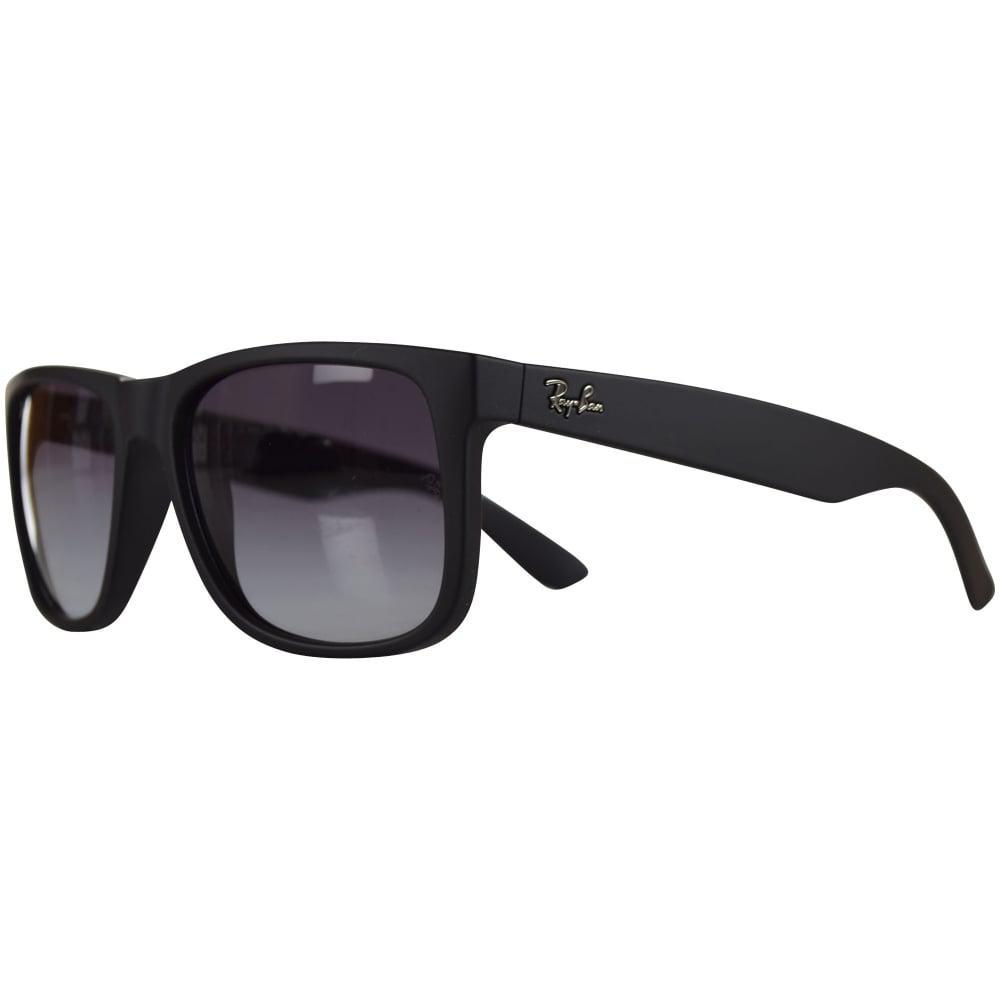 0b50d9ed2c Lyst - Ray-Ban Ray Ban Sunglasses Matte Black Rubber Wayfarer ...