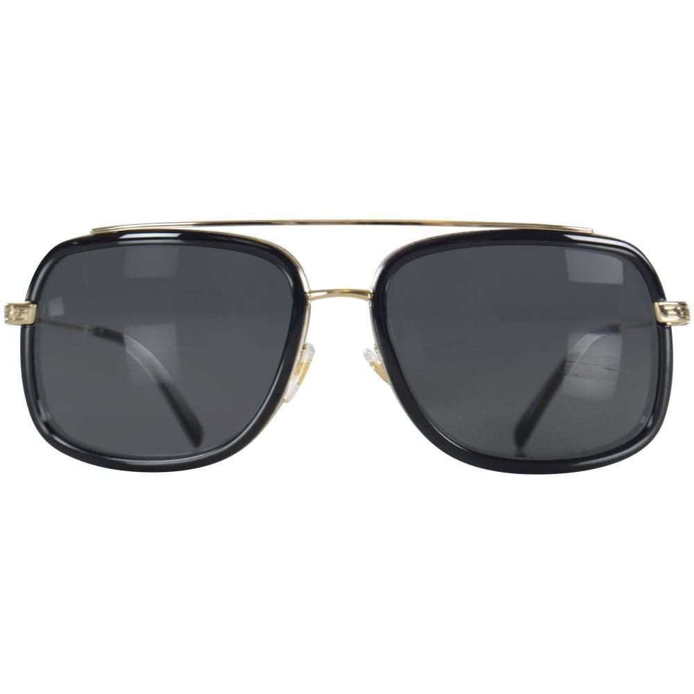 41d5403373e4 Versace - Multicolor Accessories Black silver Frame Detail Sunglasses for  Men - Lyst. View fullscreen