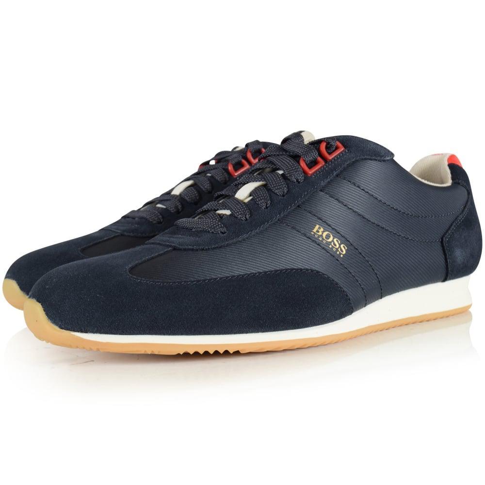 Mens Rumba_Tenn_ltpl Low-Top Sneakers, Midnight Blue Boss Orange by Hugo Boss