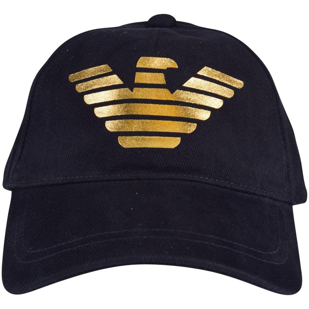 29f244794ae Emporio Armani - Blue Navy gold Eagle Baseball Cap for Men - Lyst. View  fullscreen