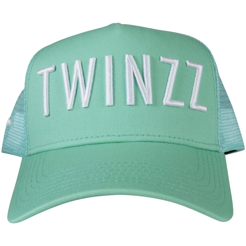 9e7c882cc58 Twinzz - Green Mint   White Mesh Trucker Cap for Men - Lyst. View fullscreen