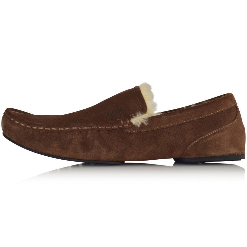 5b7629ca811 Lyst - BOSS Relax Moc Slipper in Brown for Men