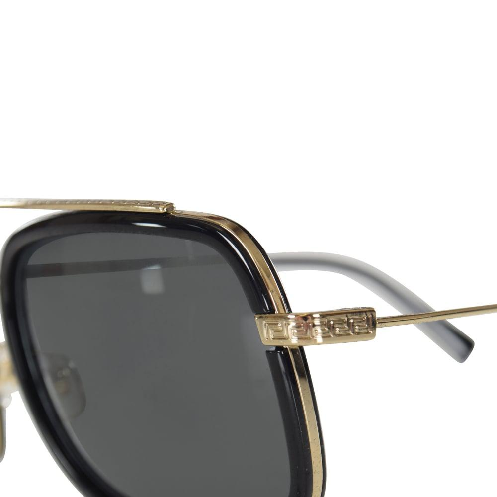 f21503954a72 Lyst - Versace Accessories Black silver Frame Detail Sunglasses for Men