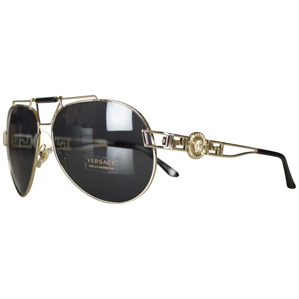 820b2e7703eb Lyst - Versace Accessories Gold Medusa Aviator Sunglasses for Men