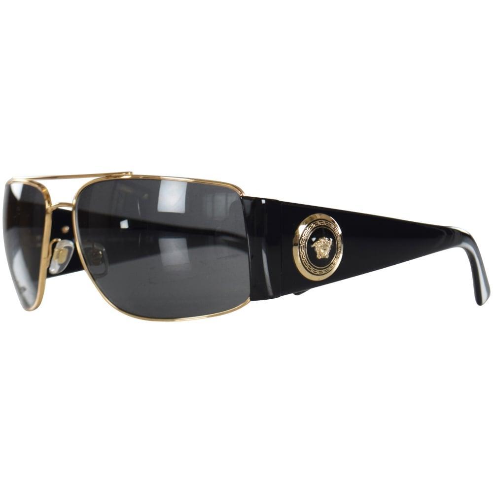 e281401db4 Versace - Accessories Black gold Retro Medusa Frame Sunglasses for Men -  Lyst. View fullscreen