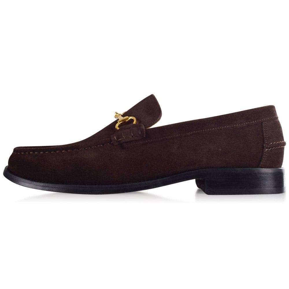 40051f96088c THOMAS FINLEY Brown Suede Loafers in Brown for Men - Lyst