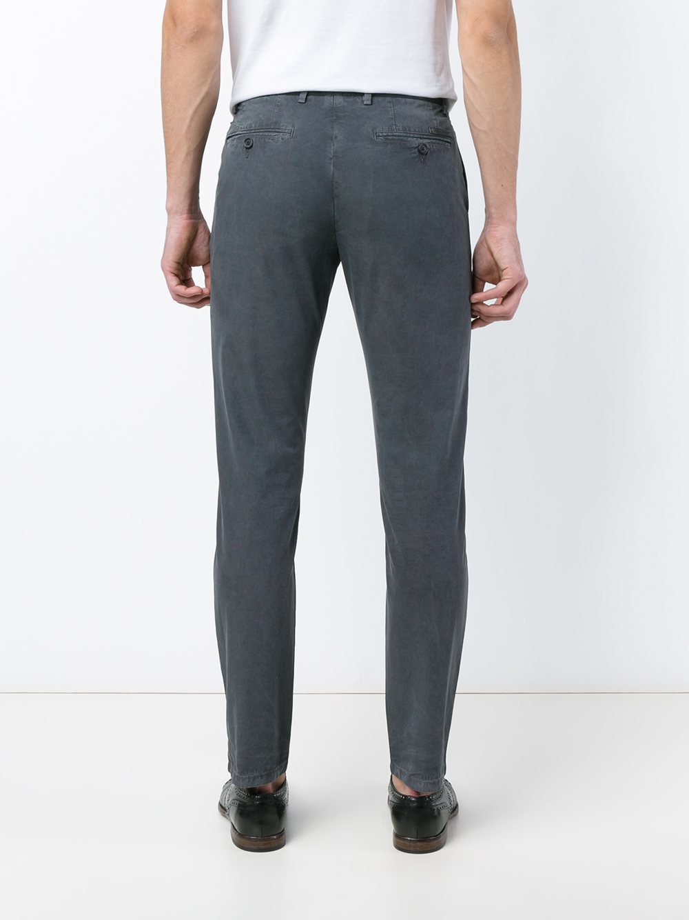 Dolce & gabbana Tailored Cotton Trousers in Gray for Men ...