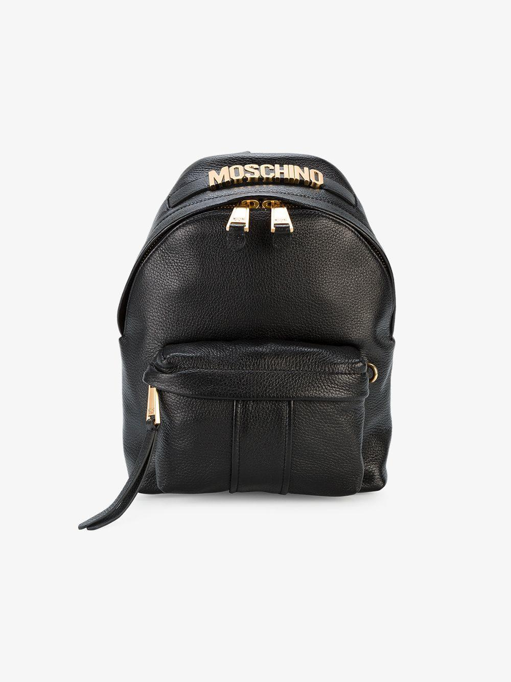e3332e3076952 Lyst - Moschino Logo Plaque Mini Backpack in Black - Save  16.736401673640174%