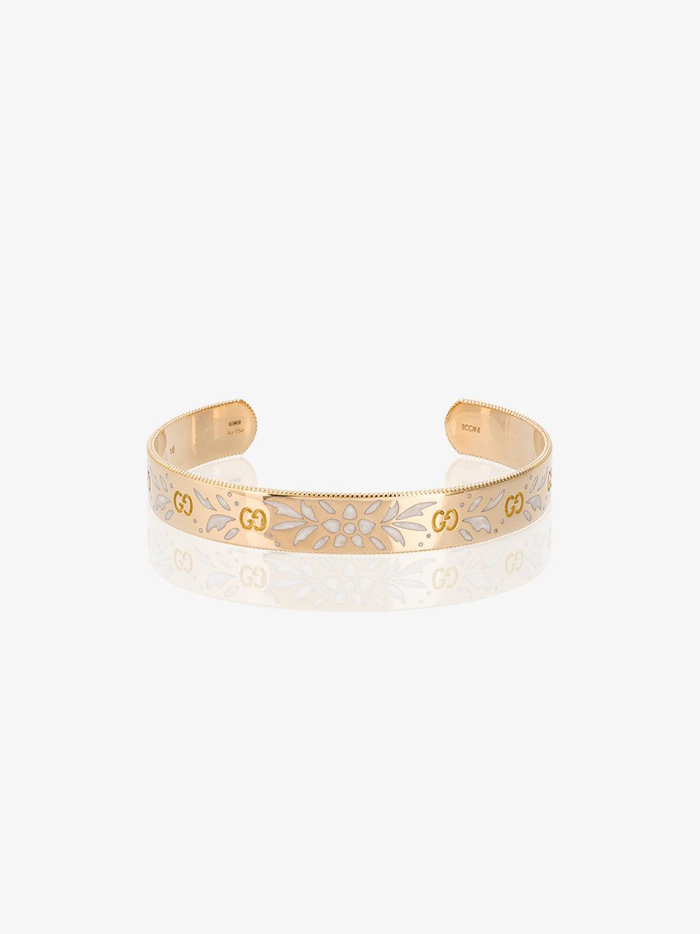 Gucci Large Icon bracelet in yellow gold - Metallic UCbuo1zmUi