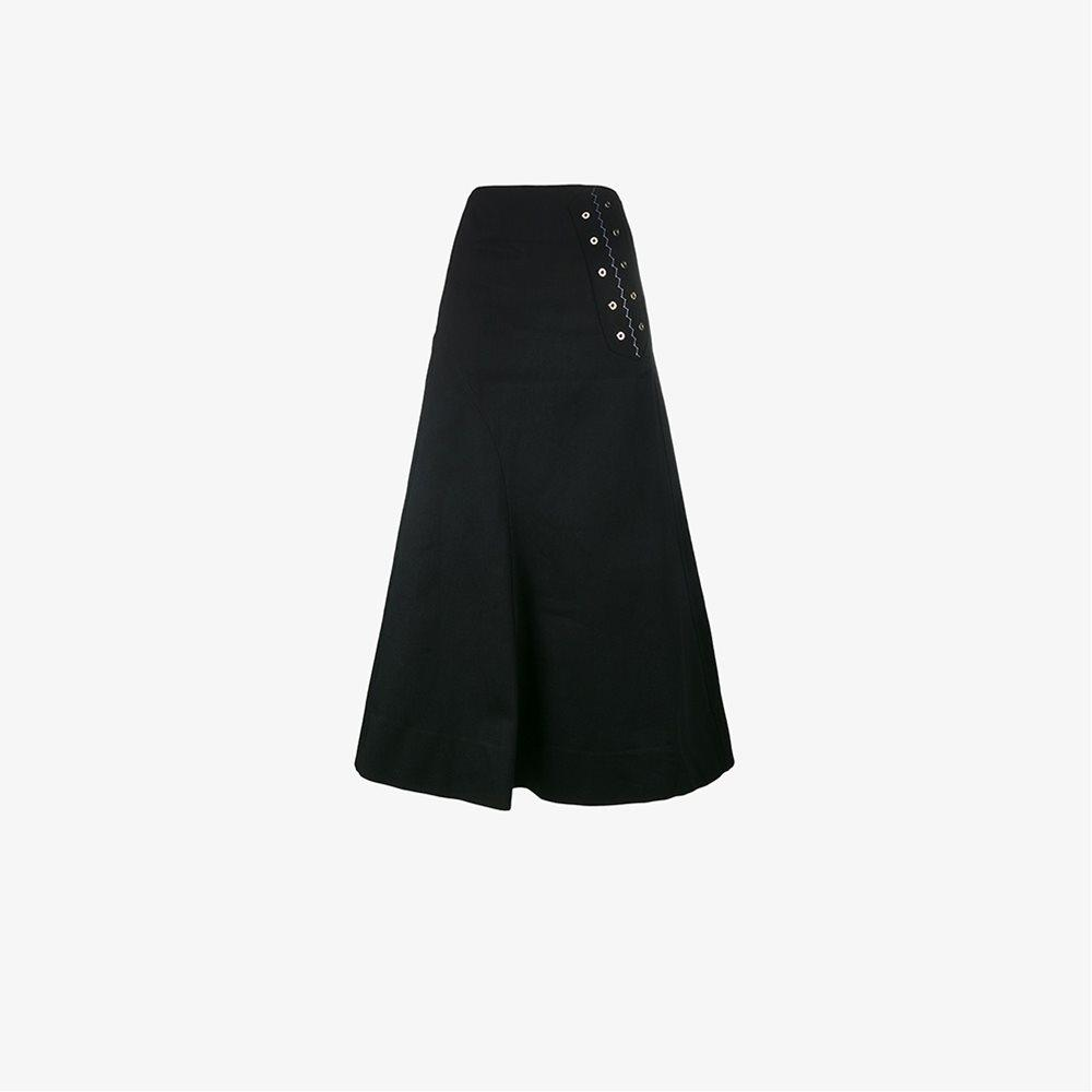 ellery a line maxi skirt in black lyst
