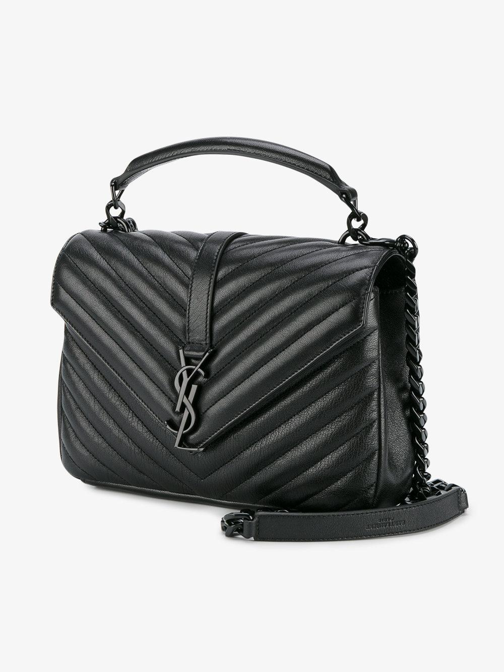 d41bdab4ae Saint laurent Small Monogram Collège Shoulder Bag in Black .