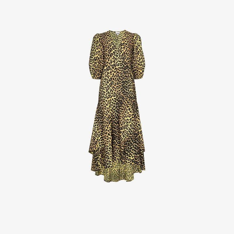 9b5c6ce2 Ganni Bijou Leopard Print Dress - Lyst