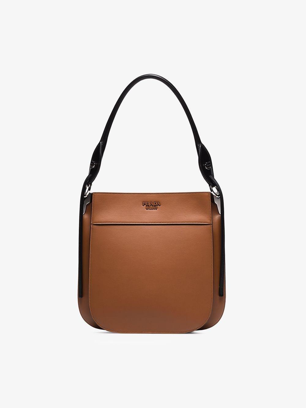 36301809ac75 Prada - Brown Margit Leather Shoulder Bag - Lyst. View fullscreen