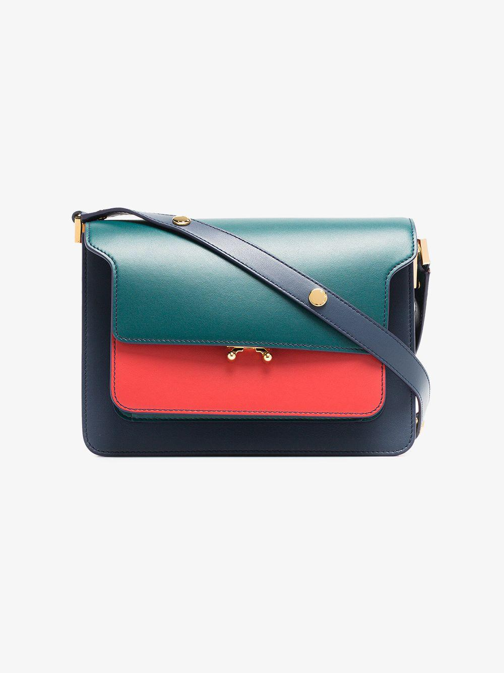 255ad8f4b76 Marni - Multicolor Green, Red And Blue Trunk Small Leather Handbag - Lyst.  View fullscreen