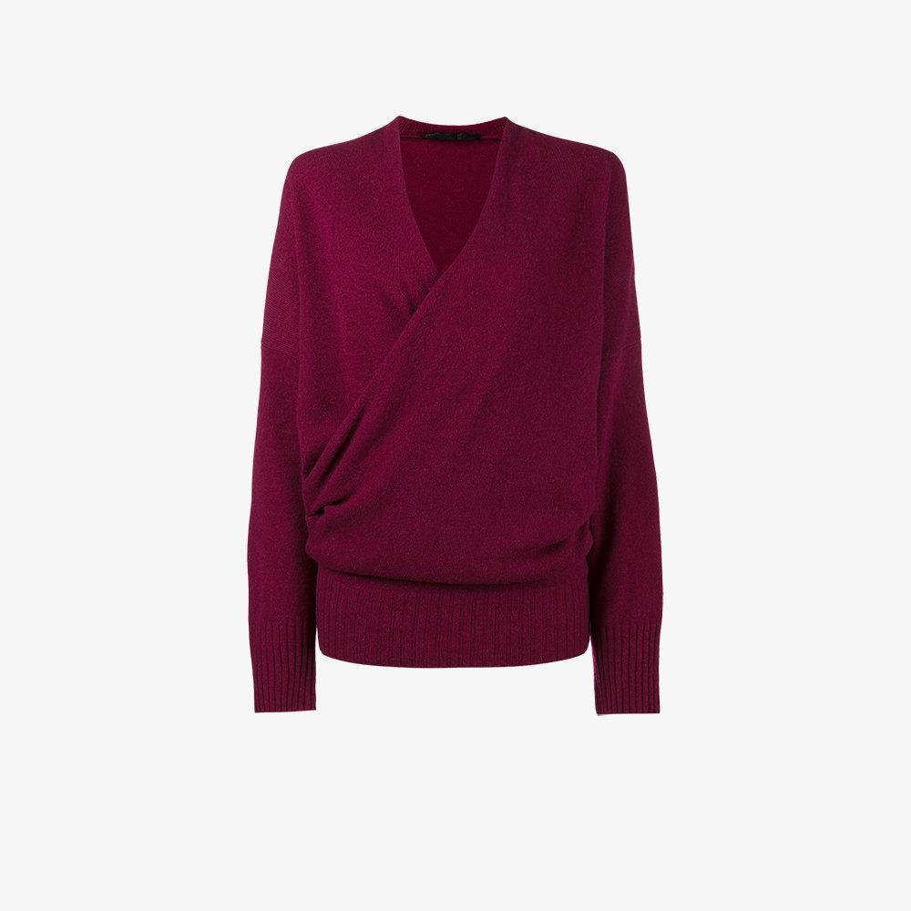 Haider ackermann Wrap Around Cashmere Sweater in Purple | Lyst