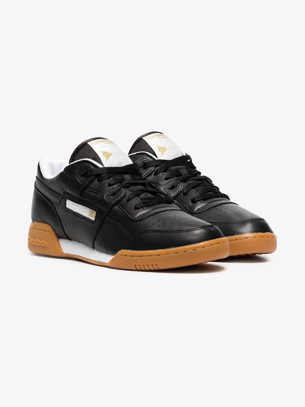 907130eb1c16 Lyst - Reebok Black Workout Plus Mu Sneakers in Black for Men - Save 5%