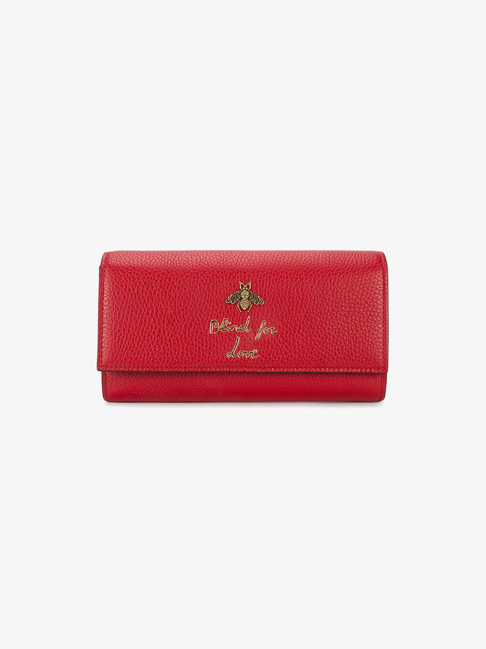 1abe8b7120081d Gucci Blind For Love Wallet in White - Lyst
