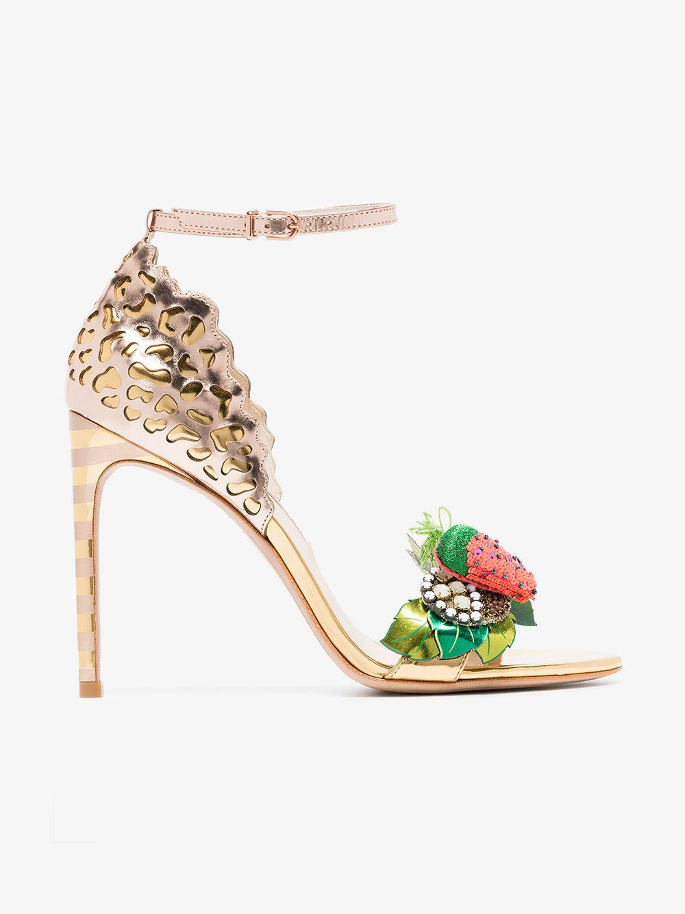 73ff8915ccc Lyst - Sophia Webster Multicoloured Lilico Fruit 100 Leather Sandals ...