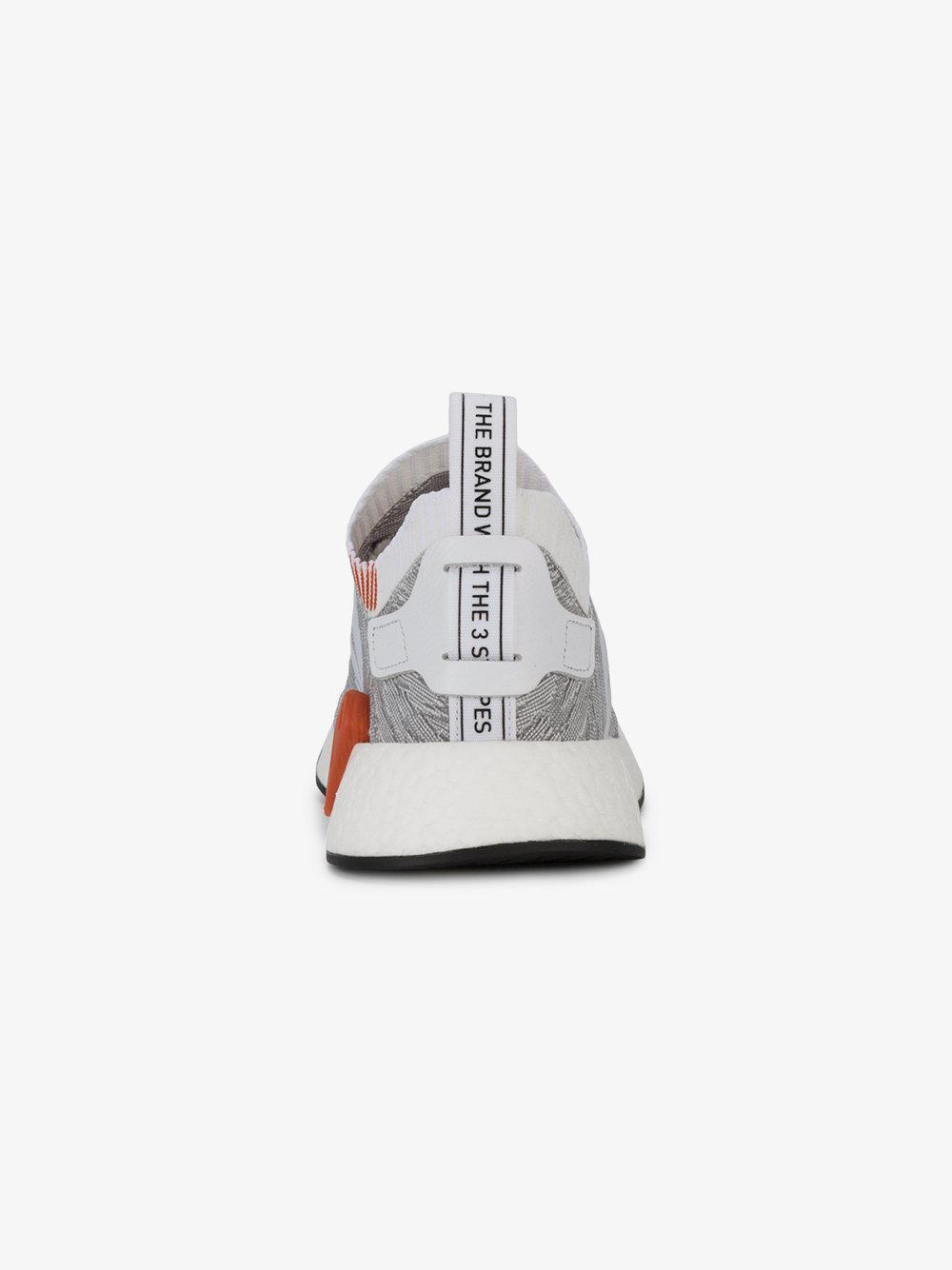b7f43f21f843c Lyst - adidas Nmd R2 Primeknit Leopard Sneakers in Gray for Men