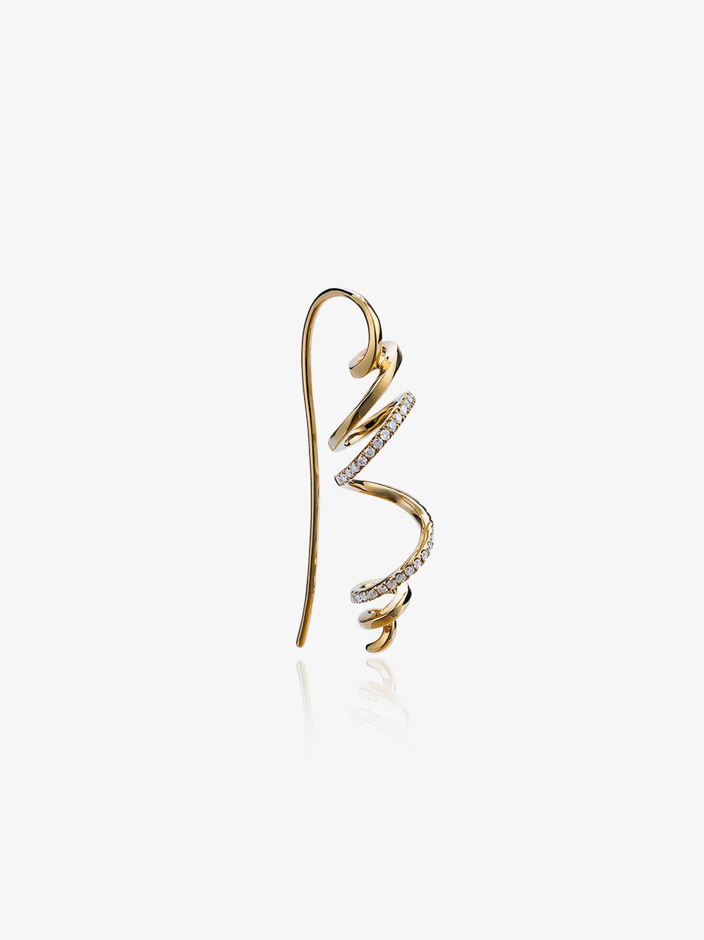 Yvonne Léon diamond creeper earring - Metallic mR9sO
