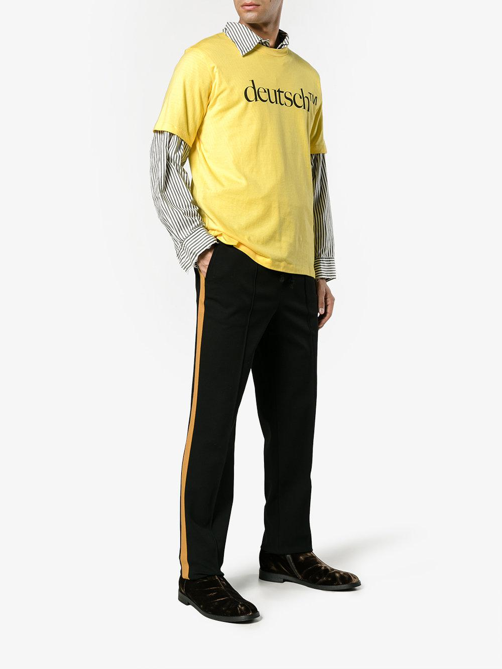 Deutsch t-shirt - Yellow & Orange John Lawrence Sullivan Discounts Online Buy Cheap 100% Authentic dWAsNF
