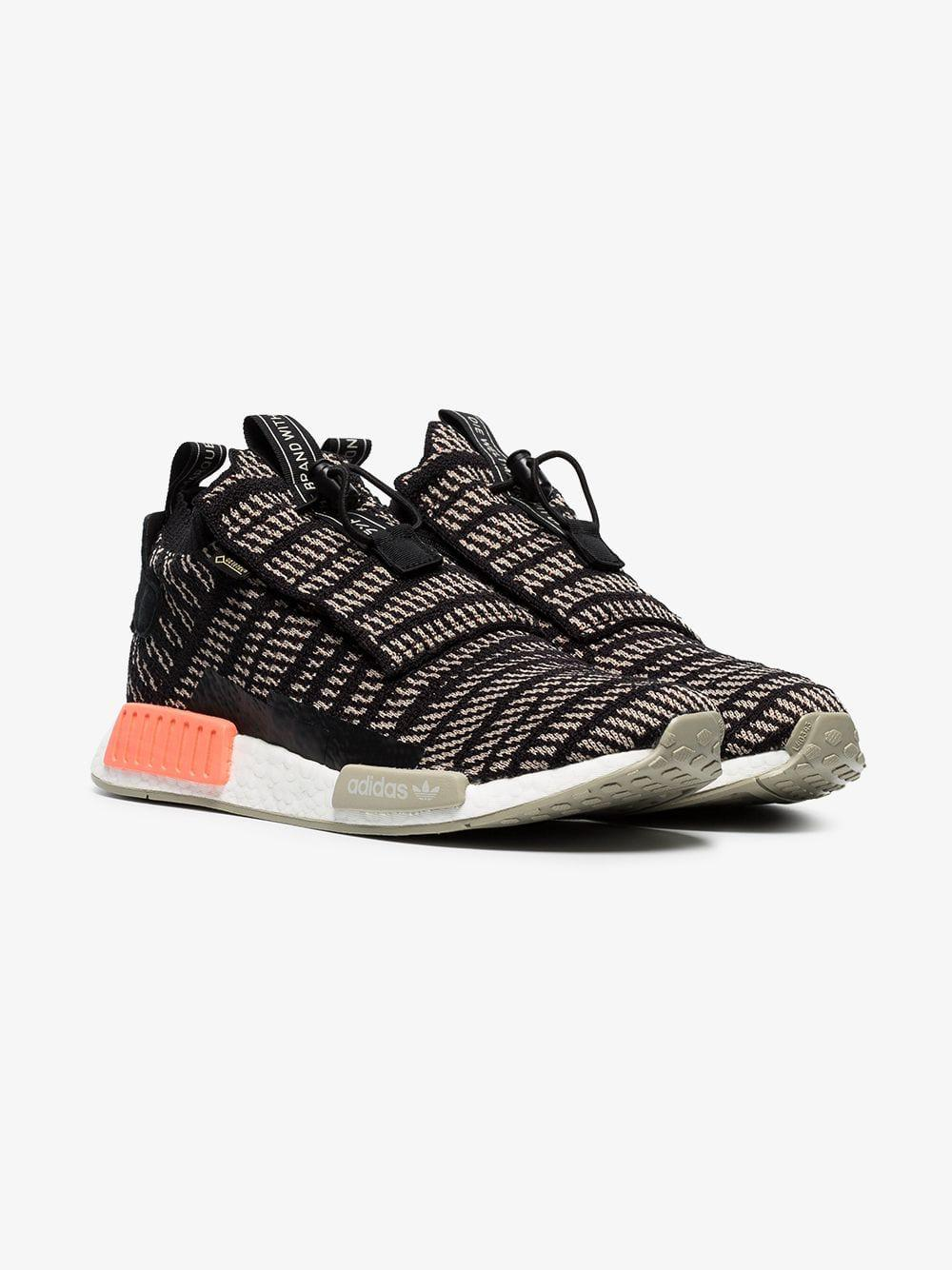 6d59b02c219a47 Lyst - adidas Black And Beige Nmd Ts1 Primeknit Gtx Sneakers in ...