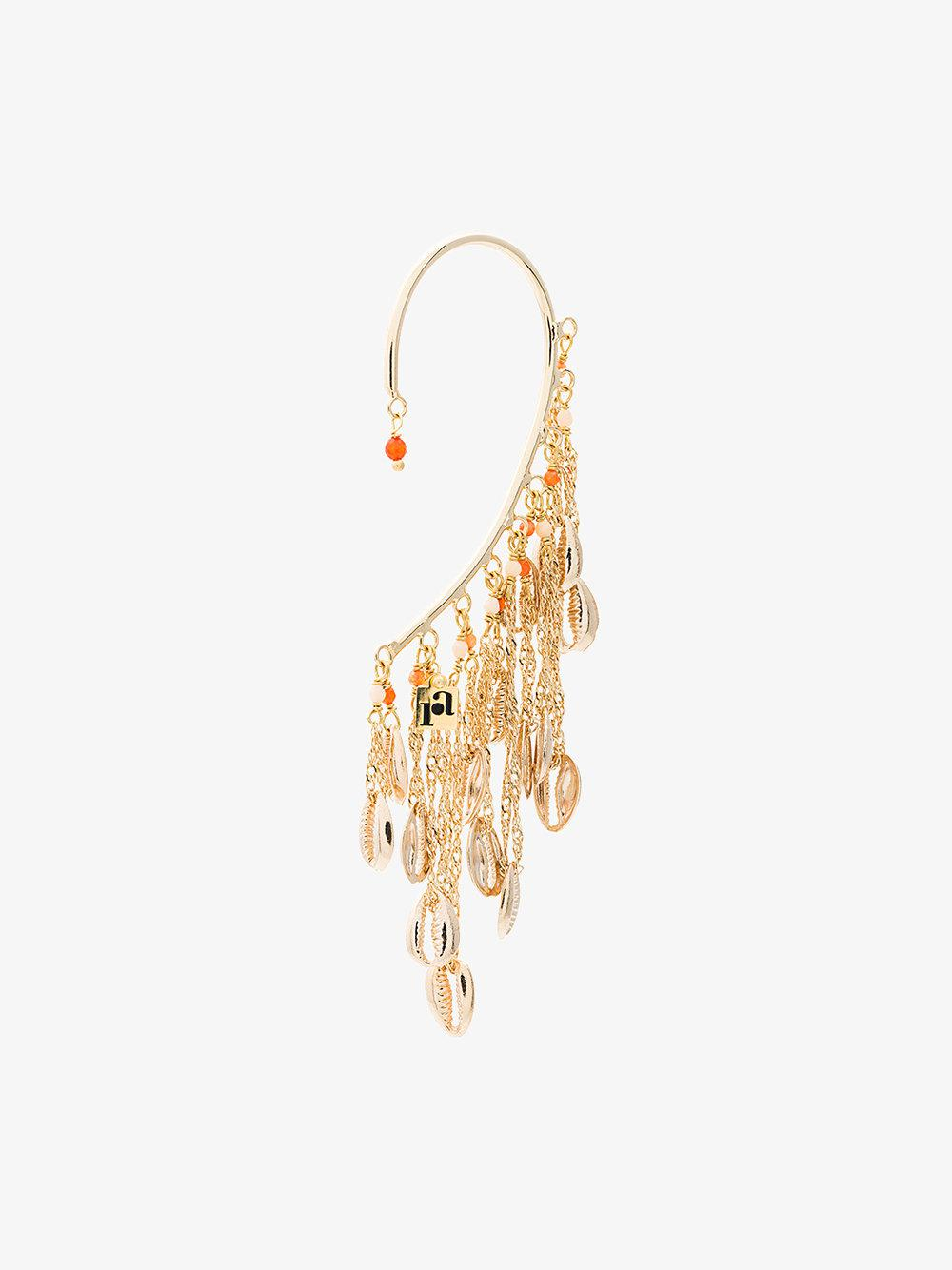 Antilla ear cuff with chain - Metallic Rosantica w9klvw7iAI