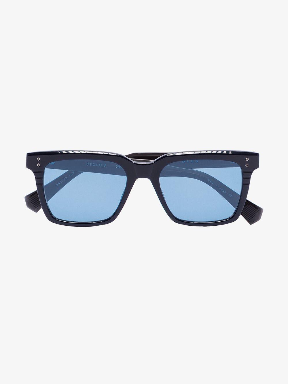 f220e416f0fc Dita Eyewear Black Drx Sequoia Tinted Square Sunglasses in Black for Men -  Lyst