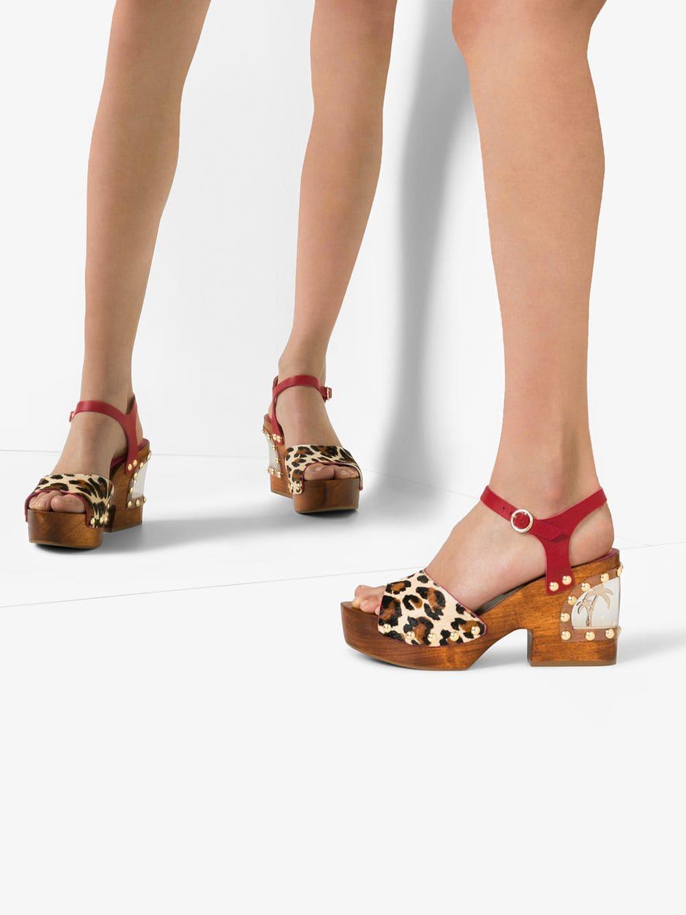 c0b0fec3ef7a Sophia Webster - Multicolor Brown Paradise 95 Leopard Print Wedge Sandals -  Lyst. View fullscreen