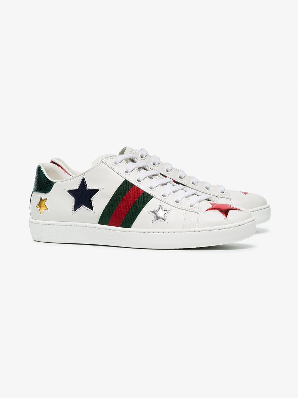 6a7bfdbde581 Gucci - White Ace Low-top Leather Sneakers - Lyst. View fullscreen