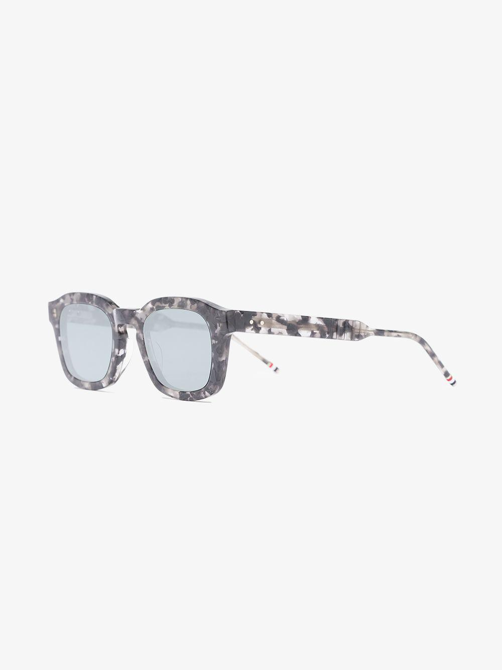 6dfb4dfd7f92 Lyst - Thom Browne Grey And Black Square Frame Sunglasses in Gray for Men