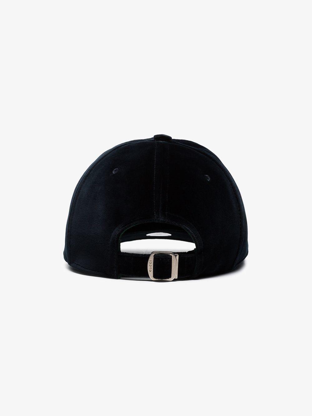 1d563800f5f Lyst - Gucci La Dodgerstm Velvet Baseball Cap in Blue for Men